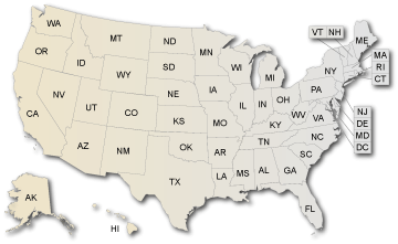 US Map of headstart programs